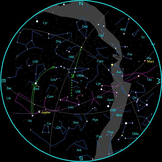 ephemeris star charts